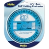 Helix Folding Protractor - Plastic - Clear