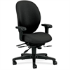 "HON Unanimous H7608 High Back Task Chair - Fabric Black Seat - Steel Black Frame - 5-star Base - Black - 19"" Seat Width x 20"" Seat Depth - 27.1"" Width x 41.5"" Depth x 45.5"" Height"