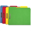 """Sparco Top-tab File Folder - Letter - 8 1/2"""" x 11"""" Sheet Size - 2 Fastener(s) - 2"""" Fastener Capacity for Folder - 1/3 Tab Cut - Assorted Position Tab Location - 11 pt. Folder Thickness - Blue, Green,"""