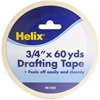 "Helix Drafting Tape - 0.75"" Width x 5 ft Length - Removable - 1 / Each - White"