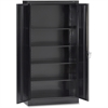 "Tennsco 7224 Standard Storage Cabinet - 36"" x 24"" x 72"" - 5 x Shelf(ves) - 2 x Standard Door(s) - 750 lb Load Capacity - Heavy Duty, Leveling Glide, Recessed Handle, Locking Mechanism - Black - Powder"