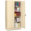 "Tennsco 7224 Standard Storage Cabinet - 36"" x 24"" x 72"" - 5 x Shelf(ves) - 2 x Standard Door(s) - 750 lb Load Capacity - Heavy Duty, Leveling Glide, Recessed Handle, Locking Mechanism - Putty - Powder"