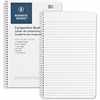 "Business Source Composition Book - 80 Sheets - Printed - Wire Bound - 16 lb Basis Weight - 6"" x 9.50"" - White Paper - 1Each"