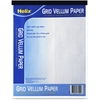 "Helix Grid Vellum Pad - 50 Sheets - Printed - 20 lb Basis Weight - Letter 8.50"" x 11"" - White Paper - 50 / Pad"