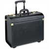 Lorell Travel/Luggage Case (Roller) for Travel Essential - Black - Vinyl - Handle