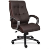 "Lorell Executive Chair - Leather Brown Seat - 5-star Base - Brown - 20"" Seat Width x 20"" Seat Depth - 27"" Width x 32"" Depth x 44.5"" Height"