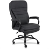 "Lorell Executive Chair - Leather Black Seat - 5-star Base - Black - 22.50"" Seat Width x 18.50"" Seat Depth - 33.5"" Width x 31"" Depth x 45.5"" Height"
