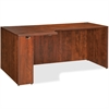 "Lorell Essentials Rectangular Left Credenza - 66.1"" x 35.4"" x 29.5"" - Finish: Cherry, Laminate"
