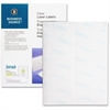 "Business Source Mailing Label - Permanent Adhesive - 1"" Width x 4"" Length - Rectangle - Laser - Clear - 1000 / Pack"