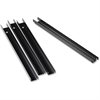 Lorell Front-to-back Rail Kit - Lateral File Supported - 4/Box - Black