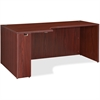 "Lorell Essentials Left Rectangular Credenza - 66.1"" x 35.4"" x 29.5"" - Finish: Laminate, Mahogany"