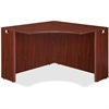 "Lorell Essentials Corner Desk - 41.4"" x 41.4"" x 29.5"" - Finish: Laminate, Mahogany"