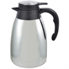 Genuine Joe Mirror Finish Classic Vacuum Carafe - 1.3 quart (1.2 L) - Vacuum - Steel Gray