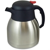 Genuine Joe Everyday Double Wall Vacuum Carafe - 1.1 quart (1 L) - Vacuum - Stainless Steel