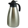 Genuine Joe Contemp Design Vacuum Insulated Carafe - 2.1 quart (2 L) - Vacuum - Stainless Steel