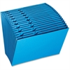 "Pendaflex Expansion File - Letter - 8 1/2"" x 11"" Sheet Size - 21 Pocket(s) - Paper - Blue - 1 Each"