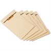 "Pendaflex 1/5 Cut Side Tab Folder Divider with Fastener - 8.50"" Divider Width x 11"" Divider Length - Letter - Manila Manila Divider - Assorted Tab(s) - 50 / Pack"