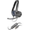 Plantronics Headset - Stereo - Black, Blue - USB - Wired - Over-the-head - Binaural - Supra-aural - Yes
