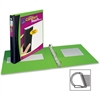 "Avery Comfort Touch View Binder - 1"" Binder Capacity - Letter - 8 1/2"" x 11"" Sheet Size - 200 Sheet Capacity - 2 Internal Pocket(s) - Green - 1 / Each"