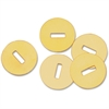 Gem Office Products Brass Washers - Flat Washer - Brass - 100 / Box