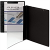 "Smead Accent Series Poly Report Covers - Letter - 8 1/2"" x 11"" Sheet Size - 30 Sheet Capacity - Polypropylene - Clear, Black - 5 / Pack"