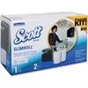 Scott Slimroll Smoke Towel Starter Set - Hardwound Roll - 1 x Roll - Plastic - Smoke - Durable