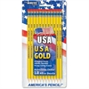 The Board Dudes Pre-sharpened USA Gold No.2 Pencils - #2, HB Lead Degree (Hardness) - Black Lead - Yellow Cedar Barrel - 12 / Pack