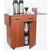 "Safco Hospitality Service Cart - 260 lb Capacity - 2 Casters - 2"" Caster Size - Laminate, Melamine - 32.5"" Width x 20.5"" Depth x 38.8"" Height - Cherry"