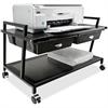 """Vertiflex Printer Stand - 15.4"""" Height x 25.3"""" Width x 15.8"""" Depth - Floor - Steel - Black"""