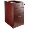 "Lorell Essentials Hanging Fixed Pedestals - 15.5"" x 21.9"" x 28.5"" - Box Drawer(s), File Drawer(s) - Single Pedestal - Material: Polyvinyl Chloride (PVC) Edge, Metal Pull - Finish: Mahogany, Laminate,"