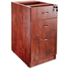 "Lorell Essentials Hanging Fixed Pedestal - 15.5"" x 21.9"" x 28.5"" - 3 x Box Drawer(s), File Drawer(s) - Material: Polyvinyl Chloride (PVC) Edge, Metal Pull - Finish: Laminate, Cherry, Silver Pull"