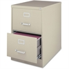 "Lorell Commercial Grade 28.5'' Legal-size Vertical Files - 18"" x 28.5"" x 28.8"" - 2 x Drawer(s) for File - Legal - Vertical - Ball Bearing Glide, Label Holder, Locking Drawer, Heavy Duty - Putty - Stee"