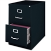 """Lorell Commercial Grade 28.5'' Legal-size Vertical Files - 18"""" x 28.5"""" x 28.8"""" - 2 x Drawer(s) for File - Legal - Vertical - Ball Bearing Glide, Label Holder, Locking Drawer, Heavy Duty - Black - Stee"""