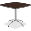 "Iceberg CafeWorks 36"" Square Cafe Table - Square Top - 1.13"" Table Top Thickness - 30"" Height x 36"" Width x 36"" Depth - Walnut"