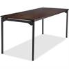 "Iceberg Maxx Legroom Wood Folding Table - Rectangle Top - Four Leg Base - 4 Legs - 30"" Table Top Width x 72"" Table Top Depth x 0.75"" Table Top Thickness - 29"" Height - Walnut"
