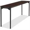 "Iceberg Maxx Legroom Wood Folding Table - Rectangle Top - Four Leg Base - 4 Legs - 18"" Table Top Width x 72"" Table Top Depth x 0.75"" Table Top Thickness - 29"" Height - Walnut"