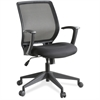 "Executive Mid-back Work Chair - Black Seat - 5-star Base - Black - 26"" Width x 27"" Depth x 40.8"" Height"