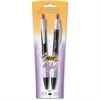 BIC for Her Gel Pen - Medium Point Type - 0.7 mm Point Size - Refillable - Blue Gel-based Ink - Black Barrel - 2 / Pack