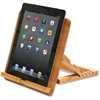 Baumgartens Qi Bamboo iPad Stand - Horizontal, Vertical - 1 Each - Natural
