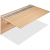 "Lorell Concordia Series Latte Laminate Desk Ensemble - 66"" x 29.5"" x 40"" - Finish: Laminate, Latte"