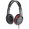 Compucessory Stereo Headset w/ Volume Control - Stereo - Black, Red - Mini-phone - Wired - 32 Ohm - 20 Hz 20 kHz - Over-the-head - Binaural - Circumaural - 5.92 ft Cable