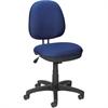 "Lorell Contoured Back Task Chair - Blue Seat - Black Frame - 5-star Base - Blue, Black - Plastic - 24"" Width x 14"" Depth x 25"" Height"