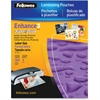 "Fellowes Glossy SuperQuick Pouches - Letter, 3 mil, 100 pack - Sheet Size Supported: Letter - Laminating Pouch/Sheet Size: 9"" Width x 11.50"" Length x 3 mil Thickness - Type G - Glossy - for Document,"