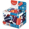 Helix Universal Gomstick Erasers Classpack - PVC-free, Phthalate-free, Self-locking, Eco-friendly - 20/Box - Assorted