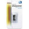 """OIC Aluminum Sharpener - Handheld - 0.6"""" Height x 0.4"""" Width x 1"""" Depth - Aluminum - Aluminum"""