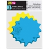 "Redi-Tag Thought Bubble Sticky Notes - 75 x Blue, 75 x Yellow - 4"" x 4"" - Bubble - Blue, Yellow - Writable, Repositionable, Self-adhesive, Removable - 150 / Pack"