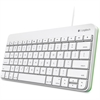 Logitech Wired Keyboard for iPad - Cable Connectivity - Lightning Interface - Compatible with Tablet (iOS) - QWERTY Keys Layout - Scissors - White, Green