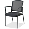 "Lorell Breathable Mesh Guest Chair - Fabric Black Seat - Steel Black Frame - Black - 23"" Width x 9"" Depth x 32"" Height"