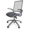 "Lorell Vortex Self-Adjusting Weight-Activated Task Chair - Fabric Gray Seat - 5-star Base - Gray - 19.30"" Seat Width x 18.50"" Seat Depth - 24.4"" Width x 22.4"" Depth x 41"" Height"