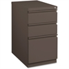 "Lorell Mobile Steel Box/Box/File Pedestal - 15"" x 20"" x 27.8"" for Box - Letter - Drawer Extension, Ball-bearing Suspension, Recessed Drawer - Medium Tone - Steel - Recycled"